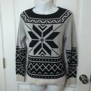 Ann Taylor LOFT Snowflake Wool Blend Sweater